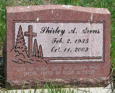 ARENS, SHIRLEY A. - Union County, South Dakota | SHIRLEY A. ARENS - South Dakota Gravestone Photos