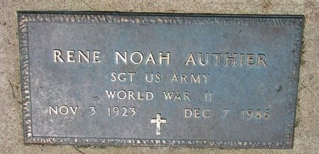 AUTHIER, RENE NOAH (WORLD WAR II) - Union County, South Dakota | RENE NOAH (WORLD WAR II) AUTHIER - South Dakota Gravestone Photos