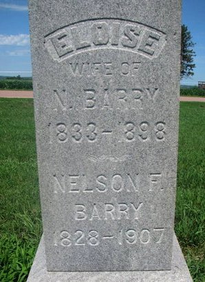 BARRY, NELSON F. (CLOSEUP) - Union County, South Dakota | NELSON F. (CLOSEUP) BARRY - South Dakota Gravestone Photos