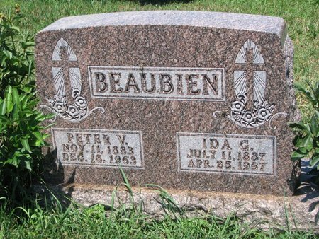 BEAUBIEN, PETER V. - Union County, South Dakota | PETER V. BEAUBIEN - South Dakota Gravestone Photos