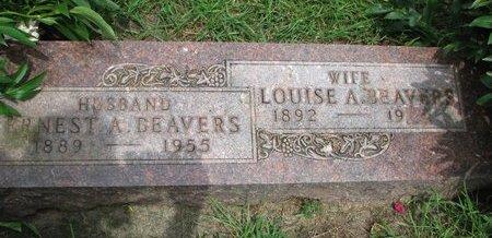 BEAVERS, LOUISE A. - Union County, South Dakota   LOUISE A. BEAVERS - South Dakota Gravestone Photos