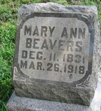 BEAVERS, MARY ANN - Union County, South Dakota | MARY ANN BEAVERS - South Dakota Gravestone Photos
