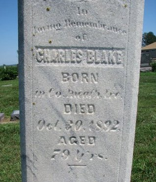 BLAKE, CHARLES (CLOSEUP) - Union County, South Dakota | CHARLES (CLOSEUP) BLAKE - South Dakota Gravestone Photos