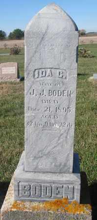 BODEN, IDA C. - Union County, South Dakota   IDA C. BODEN - South Dakota Gravestone Photos