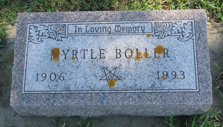BOLLER, MYRTLE - Union County, South Dakota | MYRTLE BOLLER - South Dakota Gravestone Photos