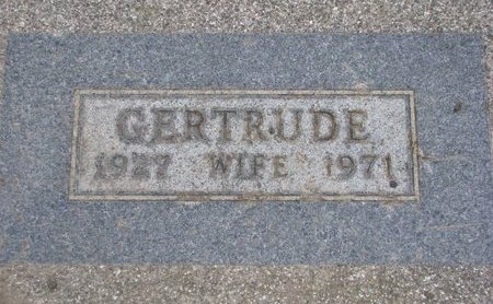 BOSSE, GERTRUDE (FOOTSTONE) - Union County, South Dakota | GERTRUDE (FOOTSTONE) BOSSE - South Dakota Gravestone Photos
