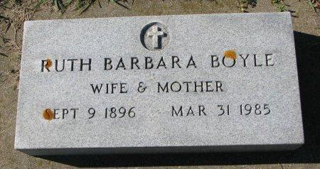 BOYLE, RUTH BARBARA - Union County, South Dakota   RUTH BARBARA BOYLE - South Dakota Gravestone Photos