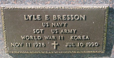 BRESSON, LYLE E. (WORLD WAR II - KOREA) - Union County, South Dakota | LYLE E. (WORLD WAR II - KOREA) BRESSON - South Dakota Gravestone Photos