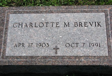 "BREVIK, CHARLOTTE M. ""LOTTIE"" - Union County, South Dakota   CHARLOTTE M. ""LOTTIE"" BREVIK - South Dakota Gravestone Photos"
