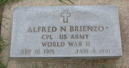 BRIENZO, ALFRED N. (WORLD WAR II) - Union County, South Dakota   ALFRED N. (WORLD WAR II) BRIENZO - South Dakota Gravestone Photos