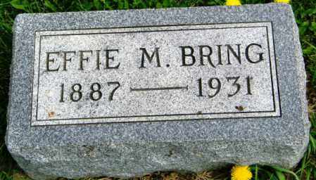 BRING, EFFIE M. - Union County, South Dakota | EFFIE M. BRING - South Dakota Gravestone Photos