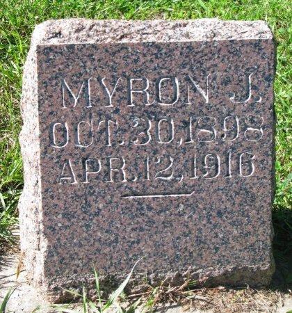BROOKS, MYRON J. - Union County, South Dakota | MYRON J. BROOKS - South Dakota Gravestone Photos