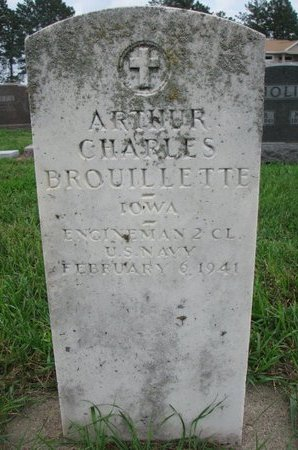 BROUILLETTE, ARTHUR CHARLES (US NAVY) - Union County, South Dakota | ARTHUR CHARLES (US NAVY) BROUILLETTE - South Dakota Gravestone Photos