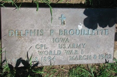 BROUILLETTE, DELPHIS P. - Union County, South Dakota | DELPHIS P. BROUILLETTE - South Dakota Gravestone Photos