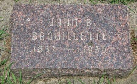 BROUILLETTE, JOHN BATTIS - Union County, South Dakota   JOHN BATTIS BROUILLETTE - South Dakota Gravestone Photos