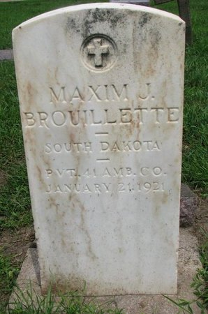 BROUILLETTE, MAXIM J. (MILITARY) - Union County, South Dakota | MAXIM J. (MILITARY) BROUILLETTE - South Dakota Gravestone Photos