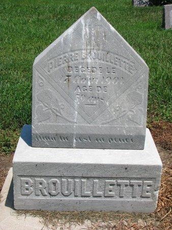 BROUILLETTE, PIERRE - Union County, South Dakota | PIERRE BROUILLETTE - South Dakota Gravestone Photos