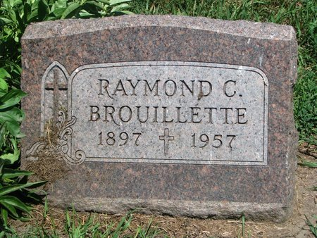 BROUILLETTE, RAYMOND C. - Union County, South Dakota | RAYMOND C. BROUILLETTE - South Dakota Gravestone Photos