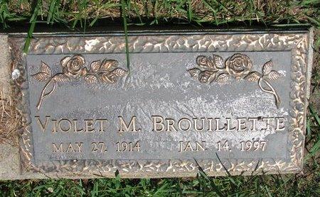 BROUILLETTE, VIOLET M. - Union County, South Dakota | VIOLET M. BROUILLETTE - South Dakota Gravestone Photos