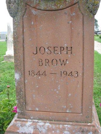BROW, JOSEPH (CLOSEUP) - Union County, South Dakota   JOSEPH (CLOSEUP) BROW - South Dakota Gravestone Photos