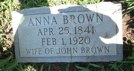 BROWN, ANNA - Union County, South Dakota | ANNA BROWN - South Dakota Gravestone Photos
