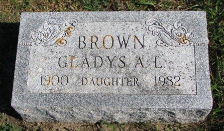 DUNCAN BROWN, GLADYS AGNES LOUISE  - Union County, South Dakota   GLADYS AGNES LOUISE  DUNCAN BROWN - South Dakota Gravestone Photos