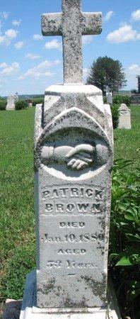 BROWN, PATRICK - Union County, South Dakota | PATRICK BROWN - South Dakota Gravestone Photos