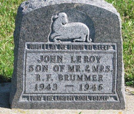 BRUMMER, JOHN LEROY - Union County, South Dakota | JOHN LEROY BRUMMER - South Dakota Gravestone Photos