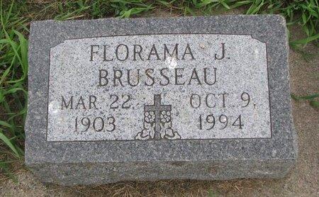 BRUSSEAU, FLORAMA J. - Union County, South Dakota | FLORAMA J. BRUSSEAU - South Dakota Gravestone Photos