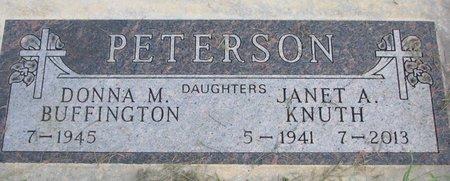 PETERSON BUFFINGTON, DONNA M. - Union County, South Dakota | DONNA M. PETERSON BUFFINGTON - South Dakota Gravestone Photos