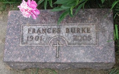 WOLL BURKE, FRANCES K. - Union County, South Dakota | FRANCES K. WOLL BURKE - South Dakota Gravestone Photos