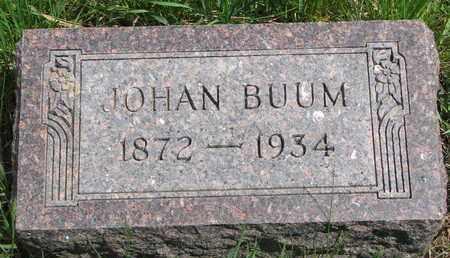 BUUM, JOHAN - Union County, South Dakota   JOHAN BUUM - South Dakota Gravestone Photos