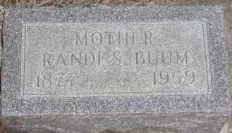 STUBBEN BUUM, RANDI S - Union County, South Dakota | RANDI S STUBBEN BUUM - South Dakota Gravestone Photos