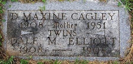 ELLIOTT CAGLEY, D MAXINE - Union County, South Dakota | D MAXINE ELLIOTT CAGLEY - South Dakota Gravestone Photos