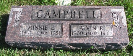 CAMPBELL, MINNIE ELVINA - Union County, South Dakota | MINNIE ELVINA CAMPBELL - South Dakota Gravestone Photos