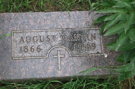 CANTIN, AUGUST - Union County, South Dakota   AUGUST CANTIN - South Dakota Gravestone Photos