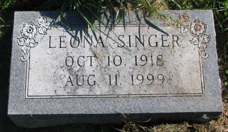 SINGER, LEONA - Union County, South Dakota | LEONA SINGER - South Dakota Gravestone Photos
