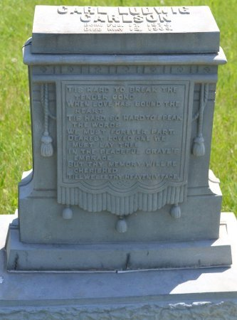 CARLSON, CARL LUDWIG - Union County, South Dakota | CARL LUDWIG CARLSON - South Dakota Gravestone Photos