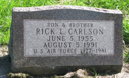 CARLSON, RICK L. - Union County, South Dakota | RICK L. CARLSON - South Dakota Gravestone Photos
