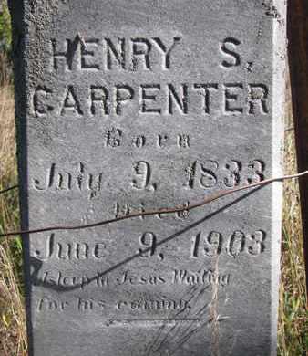 CARPENTER, HENRY S. (CLOSEUP) - Union County, South Dakota   HENRY S. (CLOSEUP) CARPENTER - South Dakota Gravestone Photos