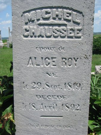 CHAUSSEE, MICHEL (CLOSEUP) - Union County, South Dakota | MICHEL (CLOSEUP) CHAUSSEE - South Dakota Gravestone Photos