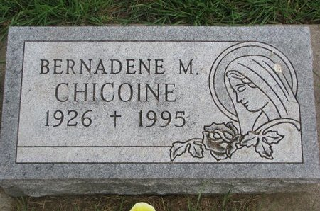 CHICOINE, BERNADENE M. - Union County, South Dakota | BERNADENE M. CHICOINE - South Dakota Gravestone Photos