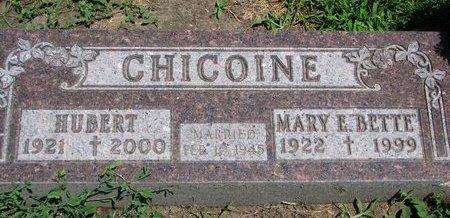 "CHICOINE, MARY E. ""BETTE"" - Union County, South Dakota | MARY E. ""BETTE"" CHICOINE - South Dakota Gravestone Photos"