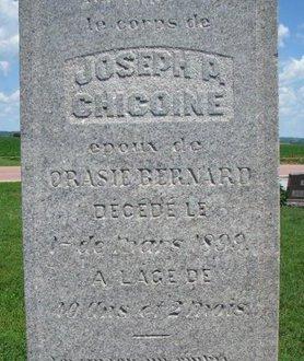 CHICOINE, JOSEPH P. (CLOSEUP) - Union County, South Dakota   JOSEPH P. (CLOSEUP) CHICOINE - South Dakota Gravestone Photos