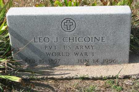 CHICOINE, LEO J. (WORLD WAR I) - Union County, South Dakota   LEO J. (WORLD WAR I) CHICOINE - South Dakota Gravestone Photos