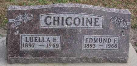 CHICOINE, EDMUND F. - Union County, South Dakota   EDMUND F. CHICOINE - South Dakota Gravestone Photos