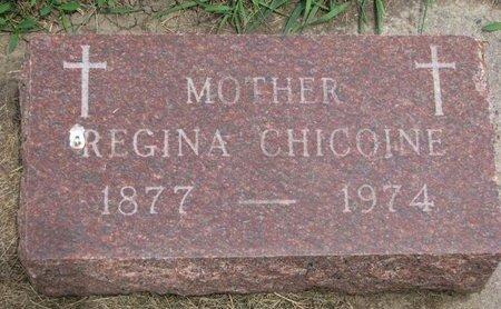 CHICOINE, REGINA - Union County, South Dakota   REGINA CHICOINE - South Dakota Gravestone Photos