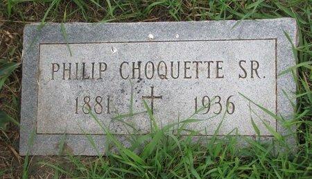 CHOQUETTE, PHILIP SR. - Union County, South Dakota   PHILIP SR. CHOQUETTE - South Dakota Gravestone Photos