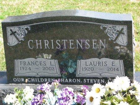 CHRISTENSEN, LAURIS E. - Union County, South Dakota | LAURIS E. CHRISTENSEN - South Dakota Gravestone Photos