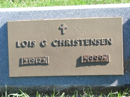 CHRISTENSEN, LOIS G. - Union County, South Dakota | LOIS G. CHRISTENSEN - South Dakota Gravestone Photos